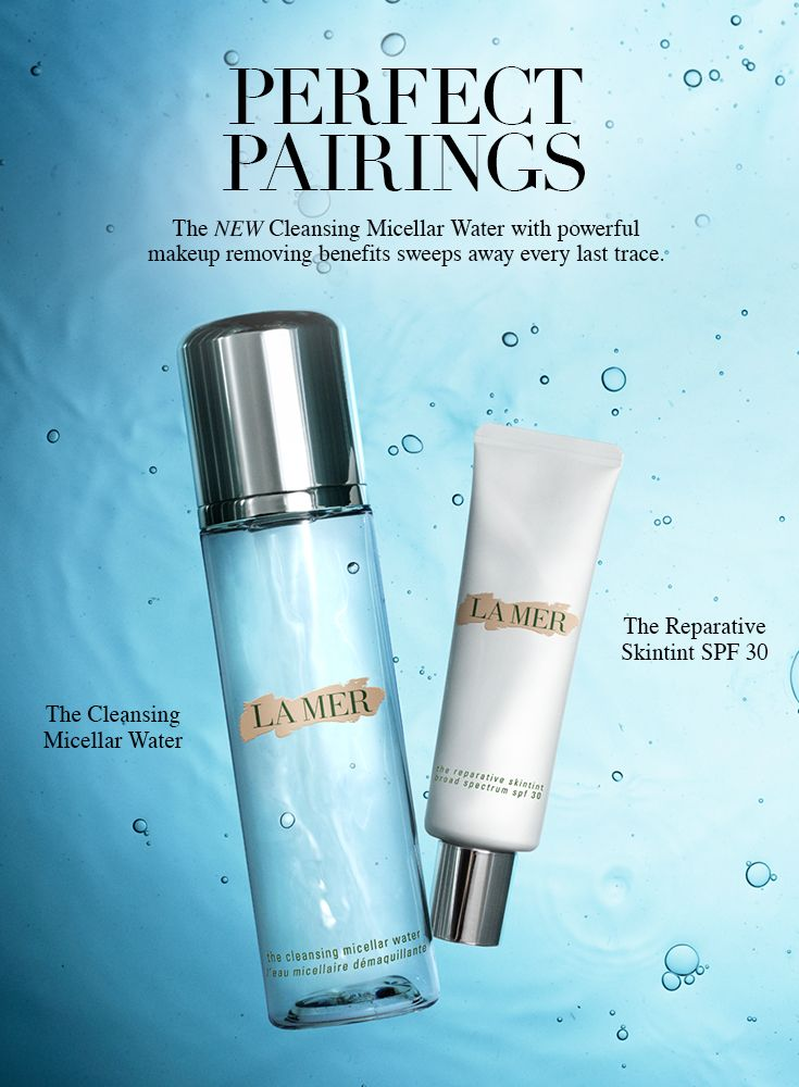Make-up call. Sweep away every last trace of your makeup with The Cleansing Micellar Water. #LaMer #InfinitePurity