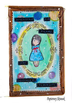Papierowy Skrawek: Art journal z Santoro