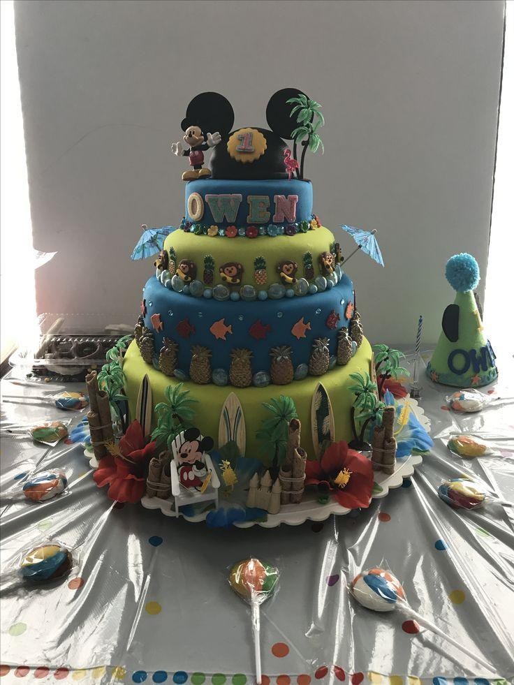 Mickey Mouse luau cake
