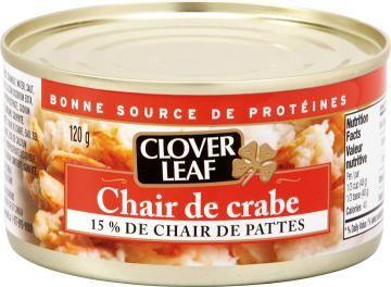 Chair de crabe 15% de chair de pattes Clover Leaf
