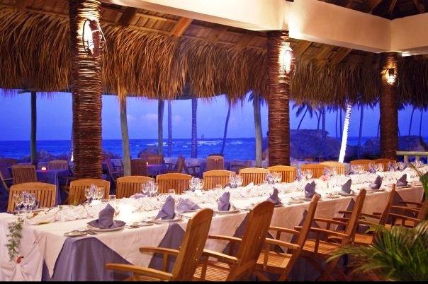 Beach restaurant Majestic elegance Punta cana and Wedding dinner