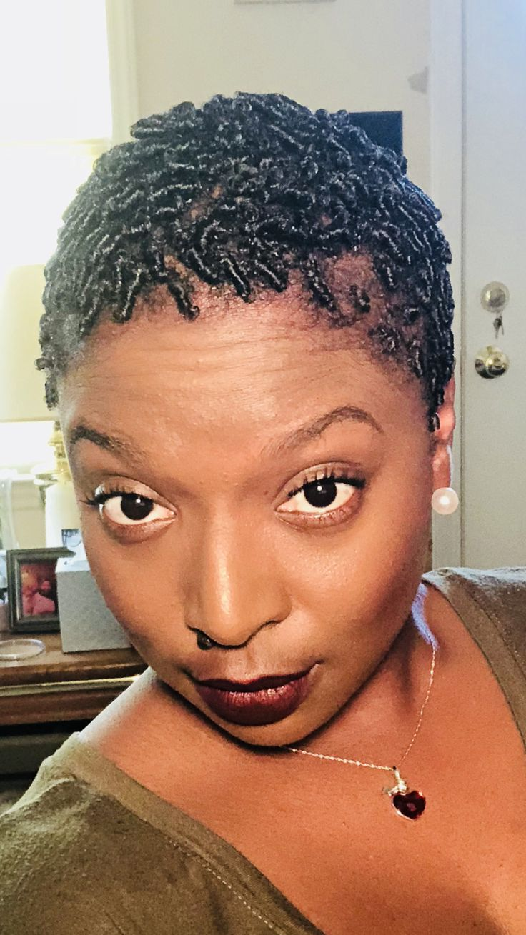 protective hairstyle finger coils 4c natural hair