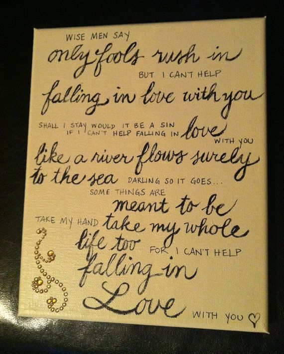 Falling In Love Too Quickly Quotes: 25+ Best Ideas About Elvis Presley Songs Lyrics On