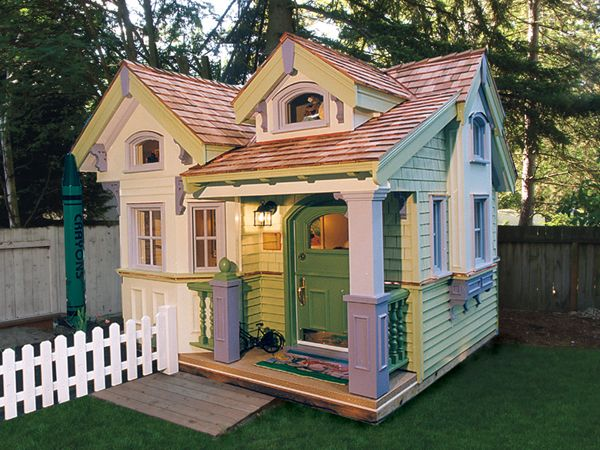charlottetown playhouse cottage from houseplansandmorecom - Plans For Outdoor Playhouses