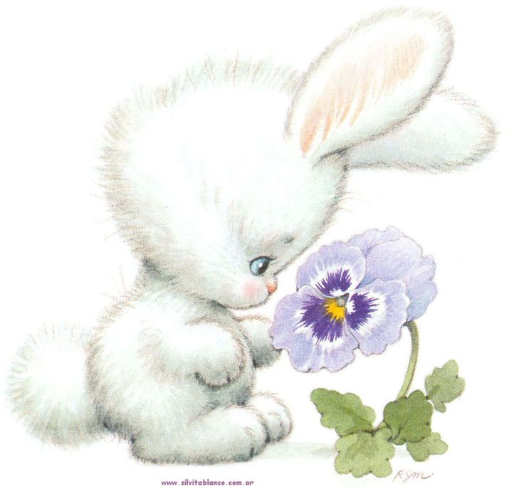 Bunny with flower