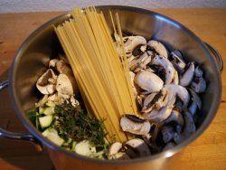One-Pot-Pasta Pilze Zutaten