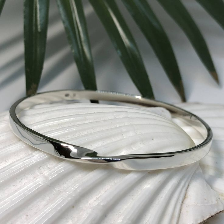 Sterling Silver Twist Bangle by HuntJewellery on Etsy