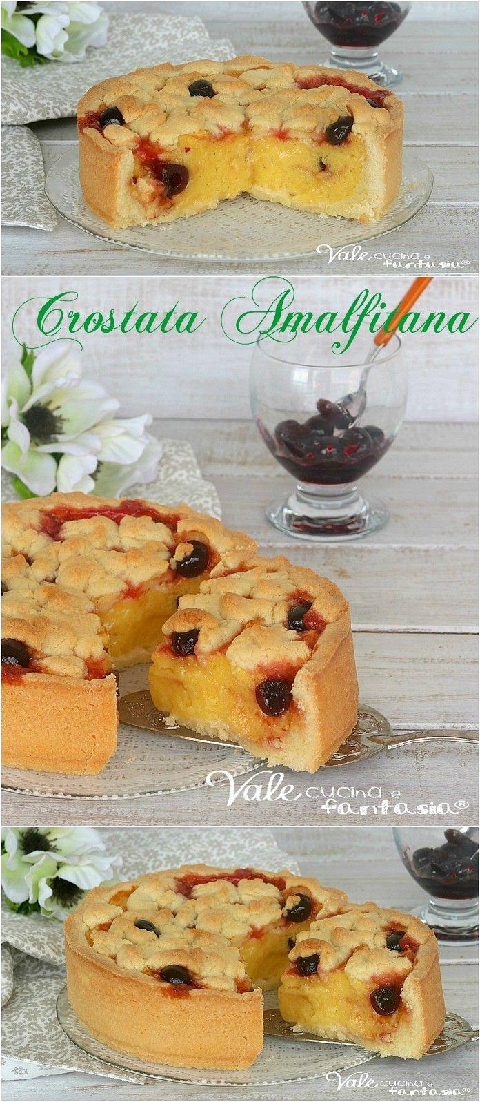 CROSTATA AMALFITANA con crema pasticcera e amarene | delicious cakes ...