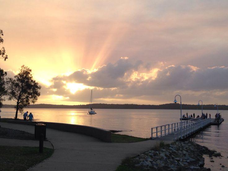 Sunset on Lake Macquarie at Murray's Beach