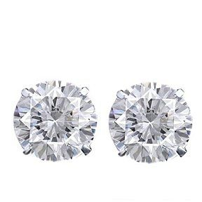 6.00 ct Round Cut D/VVS1 18K White Gold Over Solitaire Stud Earrings $999 by JewelryHub on Opensky
