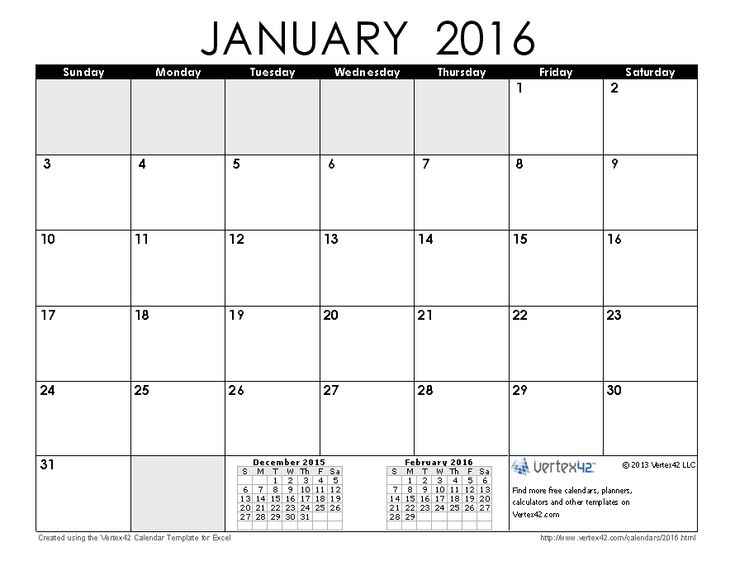 Calendar Book Printable : Download a free january calendar from vertex