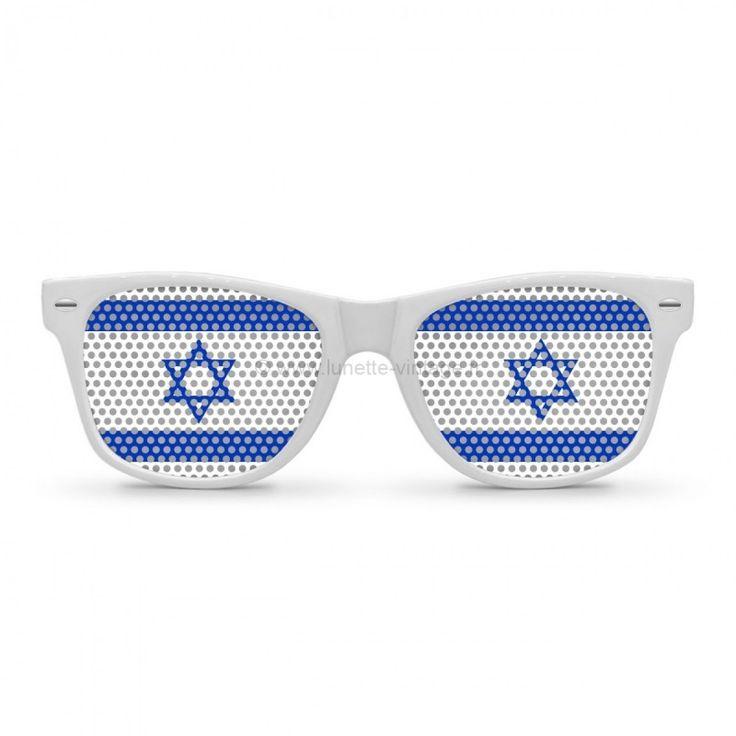 Lunettes impression des verres drapeau Israelien #flag #sunglasses #worldcup #coupedumonde #lunettes #israel