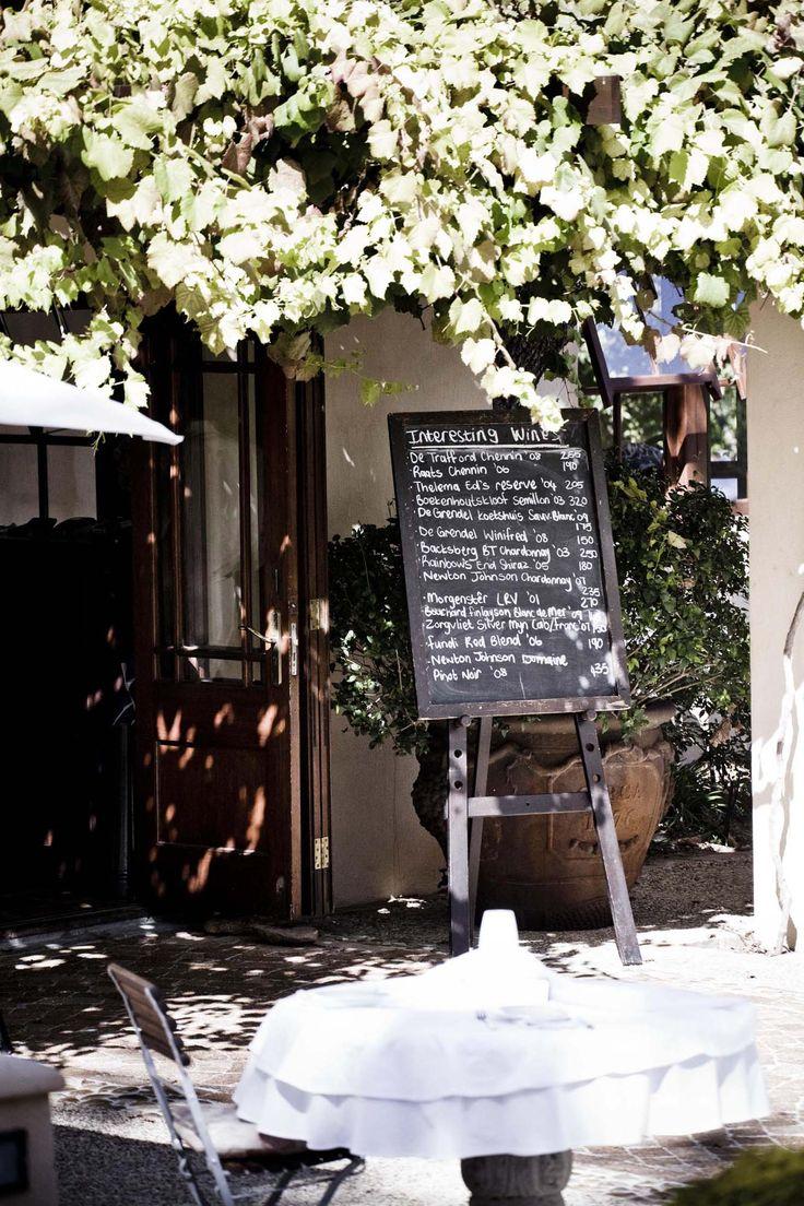 Chalkboard menu!  http://kleinezalze.co.za/terroir.html