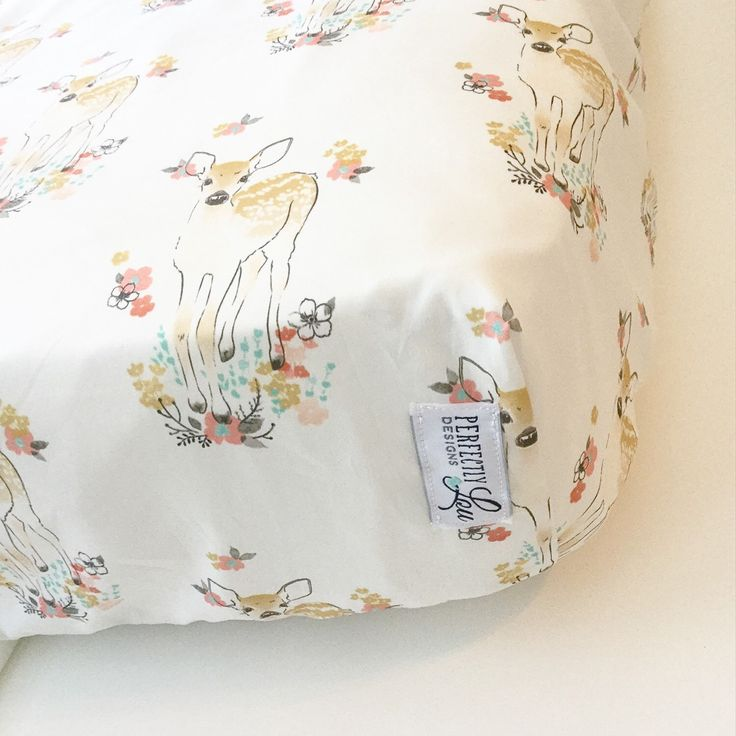 Floral Fawn   Crib Sheet   Woodland Nursery   Baby Girl Bedding   Standard Crib Sheet   Crib Blanket   Changing Pad Cover  Mint and Coral by PerfectlyLouDesigns on Etsy https://www.etsy.com/listing/271148352/floral-fawn-crib-sheet-woodland-nursery
