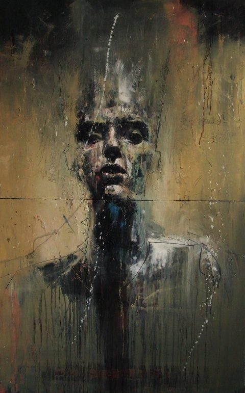 Guy Denning 'Surge successful. Stop now. Watch this.'  Oil on canvas (two panels), 76 x 122 cm, 2009
