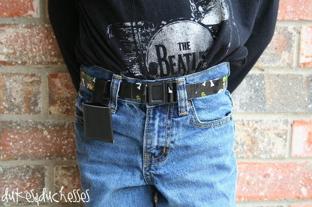 duct tape belt with pocket