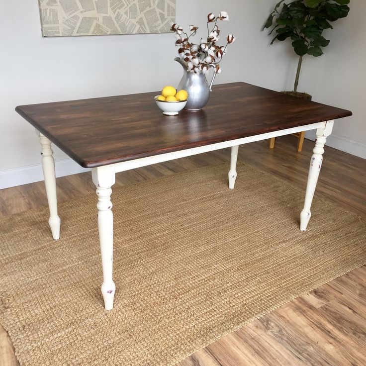 Distressed Kitchen Table - Small White Dining Table