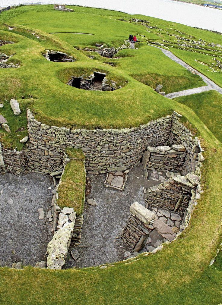 Jarlshof Prehistoric and Norse Settlement, Sumburgh Head, Shetland, Scotland