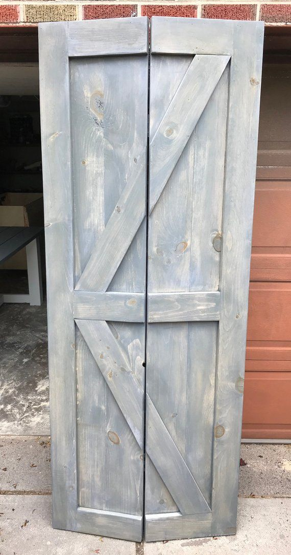 Bi Fold Barn Door Etsy Bifold Barn Doors Closet Door Makeover Bifold Doors Makeover