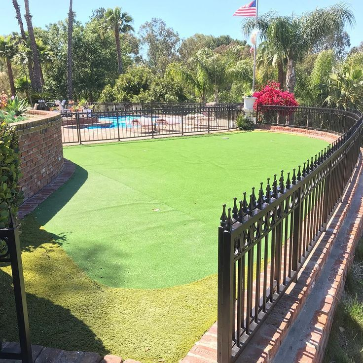 Wrought Iron Fence Painting Around Our Customer S Putting Green
