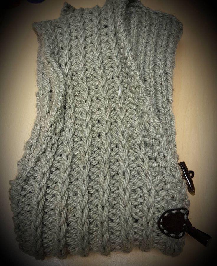 Women's knitted gillet - handmade gillet - womens wear - knitted waistcoat - womens waistcoat - oversized waistcoat - chunky waistcoat by HandmadeWithLoveHMWL on Etsy