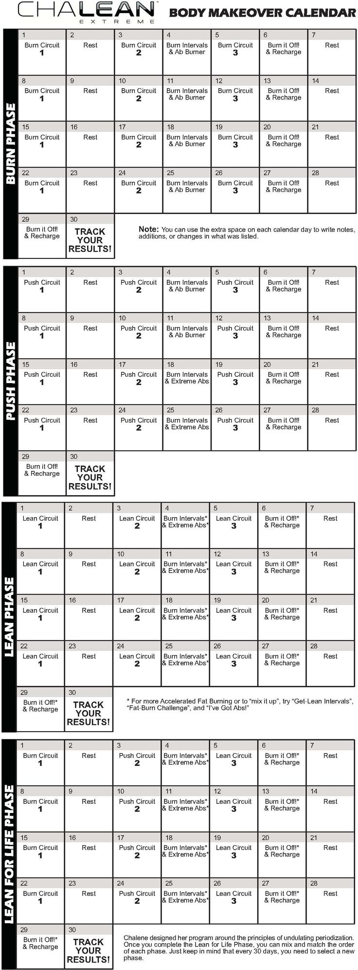 Worksheets Chalean Extreme Worksheets 30 best chalean extreme images on pinterest beachbody workout calendar ari and i are in week 3 of the burn phase