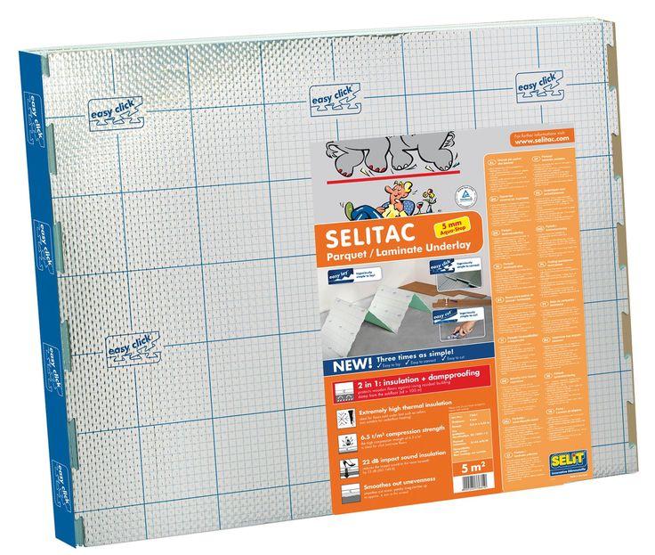 Selit 5mm Expanded Polystyrene Laminate Floor Underlay 5