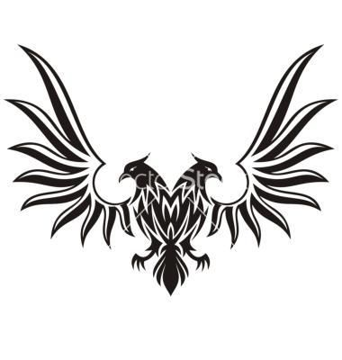 Double- headed black eagle.