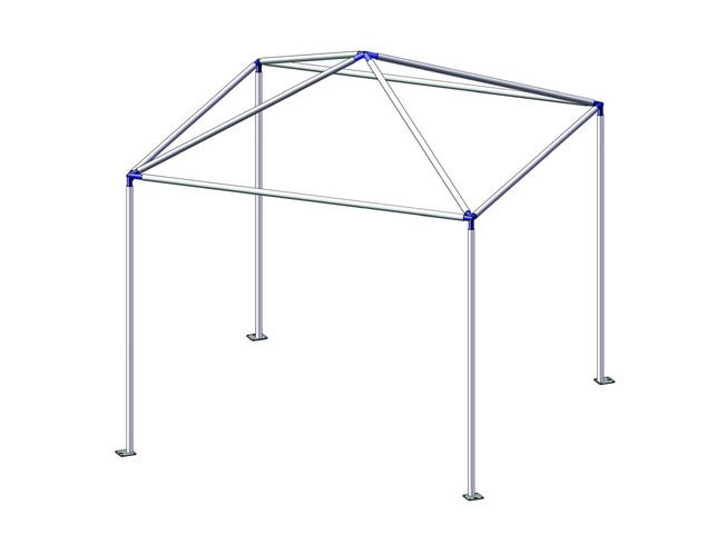 PVC pipe tent...hmmmmm...And maybe ad some cute fabric to make a circus tent for a party