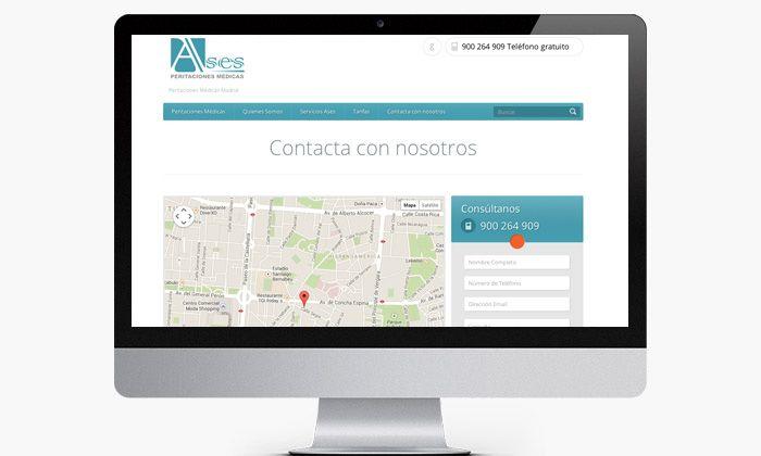 http://www.basicum.es/portfolio-item/diseno-web-empresa-ases-peritaciones-medicas/ Diseño de pagina de contacto para Ases peritaciones Médicas creado por Basicum.es