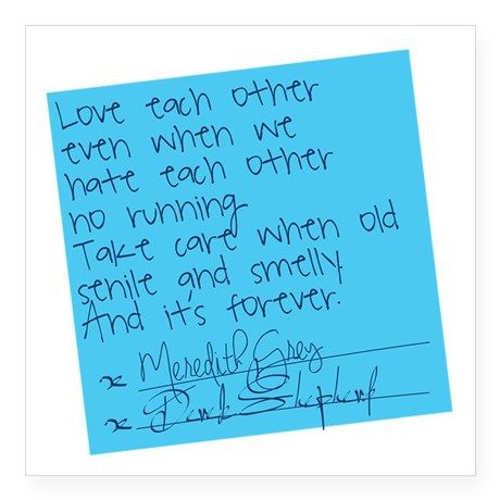 "Greys Anatomy: Post It Square Sticker 3"" x 3"" on CafePress.com"