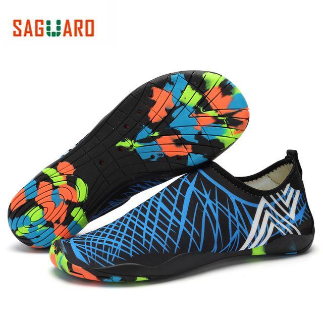 Sale Price $10.56, Buy SAGUARO Men Women Water Shoes Quick Drying Beach Barefoot Aqua Shoes Outdoor Unisex Yoga Skin Shoes Aquaschuhe Wading Schuhe