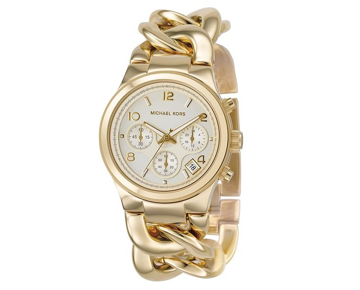 Michael Kors Chronograph: Woman Watches, Style, Jewelry, Gold Watches, Michael Kors Watches, Bracelets Watches, Chains Link, Michaelkors, Stainless Steel