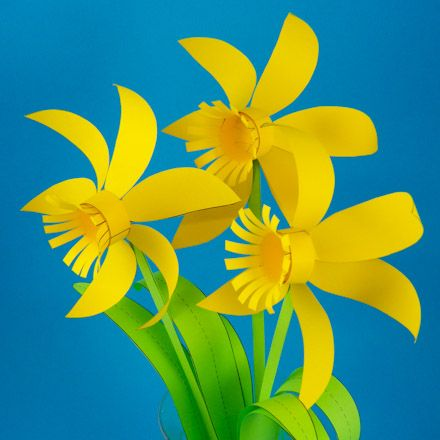 Printable patterns for paper daffodils