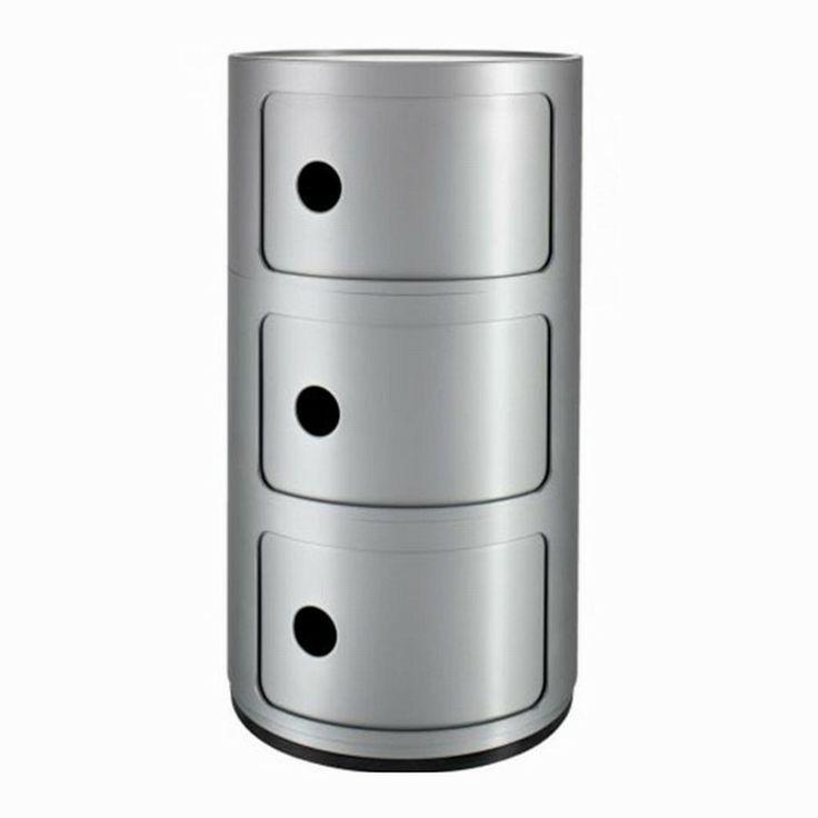 Kartell Componibili Opbevaring 3 Rum, Sølv - 1010 kr. http ...