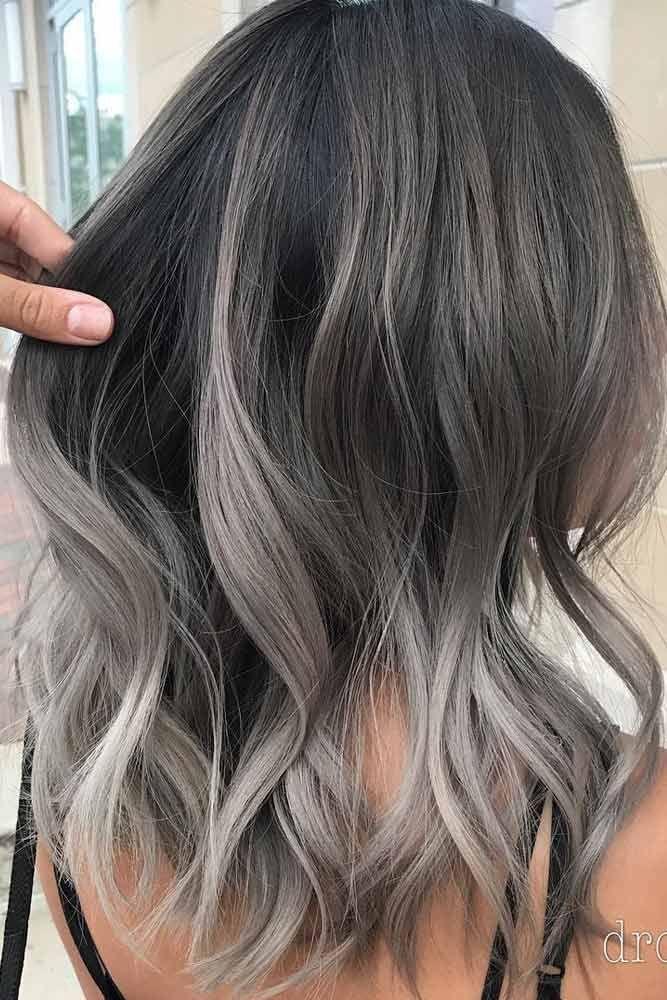 Grey Hair In 2020 Grey Ombre Hair Ash Hair Color Hair Color Balayage