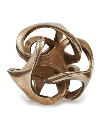 Shapeways 3-D Printed Orb Stainless Steel Sculpture - Neiman Marcus