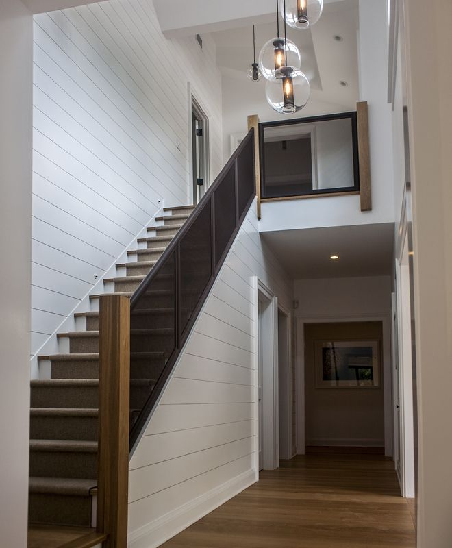 Beach/Coastal, Contemporary, Modern, Transitional Foyer, Hallway, Staircase | Erica Broberg Smith Architects | Dering Hall Design Connect In partnership with Elle Decor, House Beautiful and Veranda.