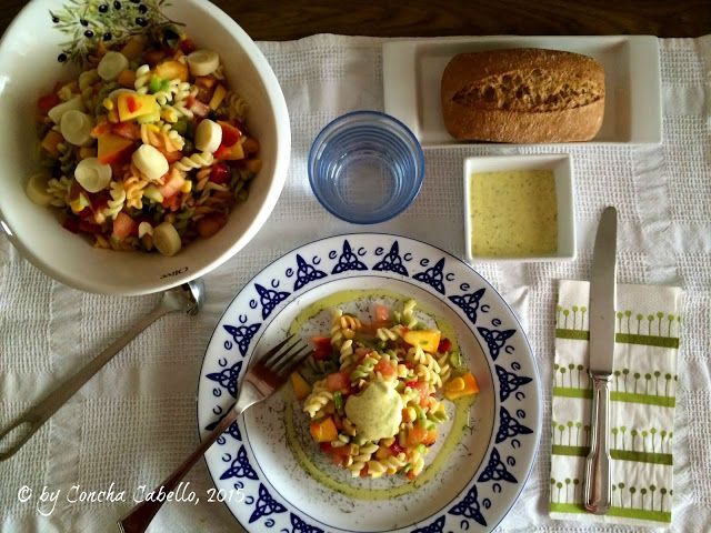 Ensalada de Pasta con Ciruela y Nectarina