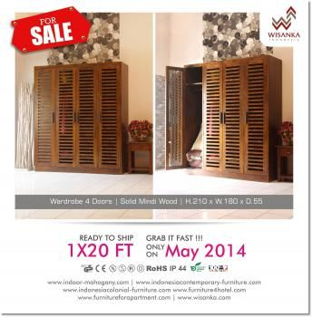 Special promo products Wisanka WFD. Check this out... Detail of Joss Wardrobe | Indonesia Contemporary Furniture