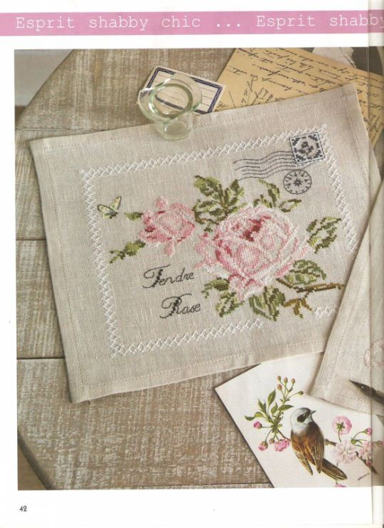 ROSES ENVELOPES cross stitch chart.  Gallery.ru / Фото #1 - Роза - DELERJE