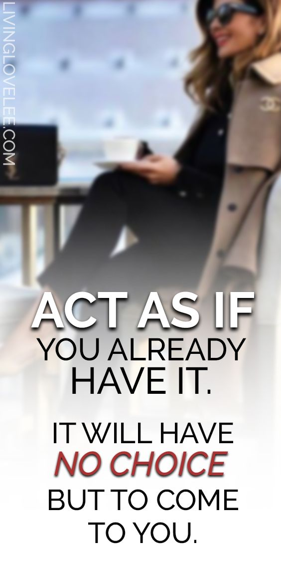 How to ACT AS IF | Law of Attraction | Leeor Alexandra | LIVINGLOVELEE.COM