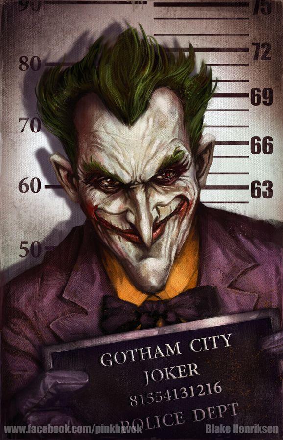 Gotham City Mugshots: Joker by pinkhavok.deviantart.com on @deviantART http://pinkhavok.deviantart.com/art/Gotham-City-Mugshots-Joker-422044384
