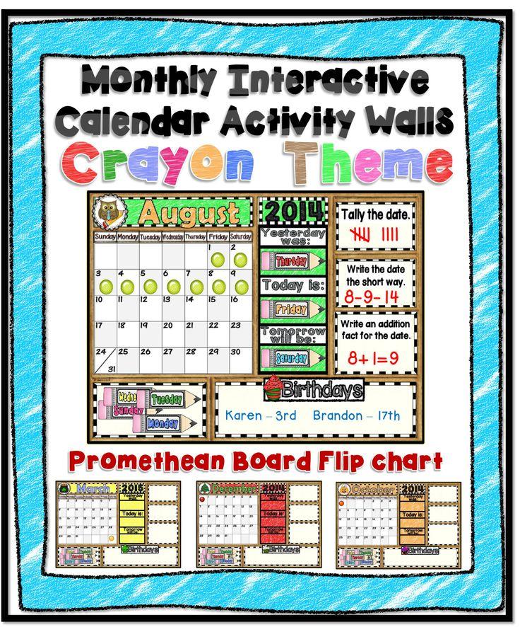 Interactive Calendar Ideas : Monthly interactive calendar activity walls
