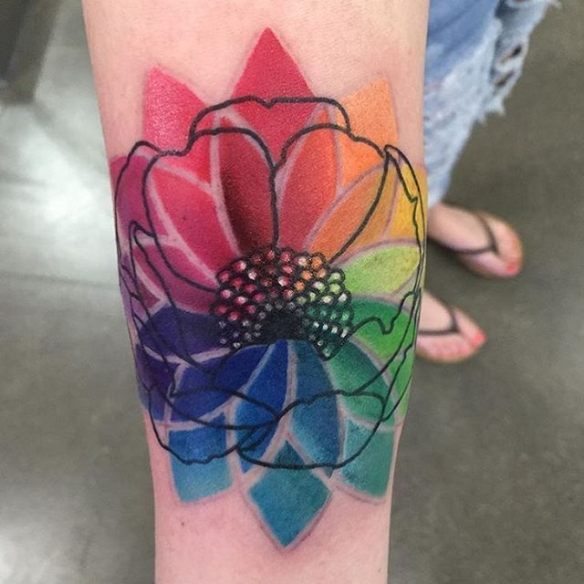 #mulpix Pretty little abstract color wheel @jasontritten did yesterday! #multicolor #colortattoo #LasVegas #Vegas #revolttattoos #vegastattoo #lasvegastattoo #tattoo #tattoos #tattooshop #inked #jointherevolt #tattooingliveworldwide