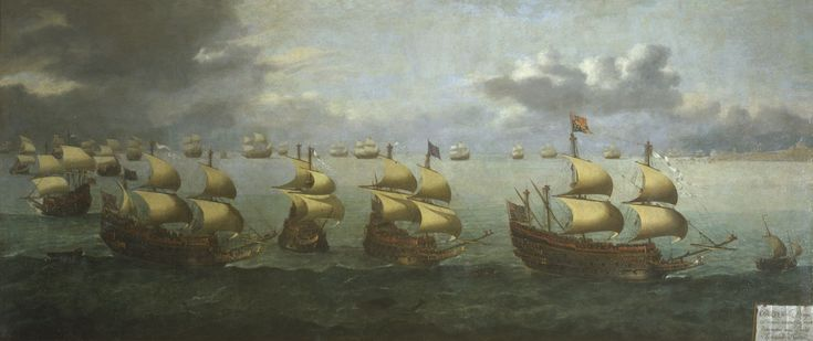 Hendrik Cornelisz. Vroom - De terugkeer van Prins Charles uit Spanje, 5 oktober 1623