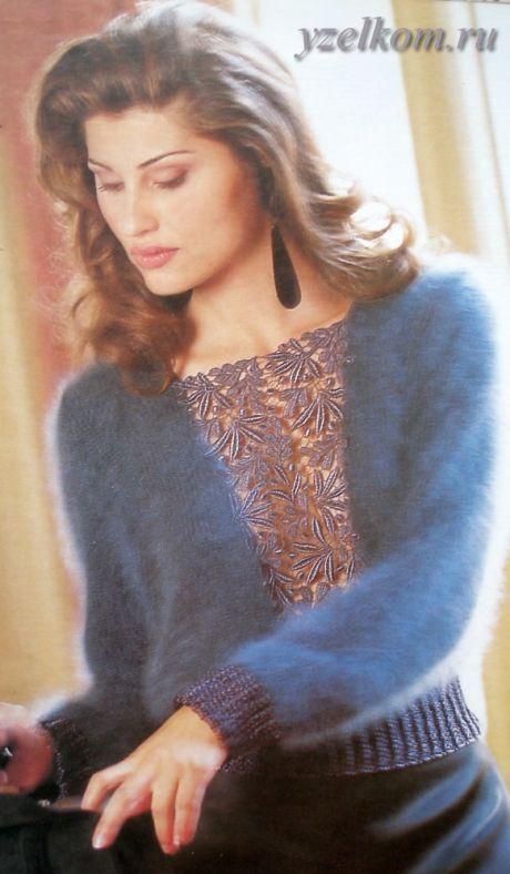 Пуловер с листьями Пуловер ажурный спицами Пуловер нарядный Пуловер белый с листьями Пуловер модный. Вышивка орнамент Пуловер на спицах. Узор сердечками Пуловер спицами. Рукав реглан Пуловер с центральным мотивом Пуловер спущенными петлями. Вязание на спицах Пуловер со спущенными петлями
