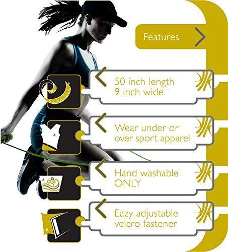 Actervate - Waist Trimmer Belt Black 50 inch, Slimmer Belt & Sweat Belts for Women and Men - Best Belly Burner Belt, Waist Belt, Back Support, Abs Workout, Slimming & Weight Loss Belt. Mini Sauna Suit