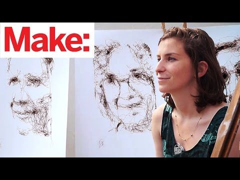 Artist Spends a Decade Tweaking Robot That Draws Beautifully Organic Portraits