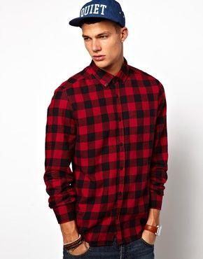 River Island Red Buffalo Shirt